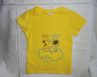 Yellow t, shirt with Woezel & Pip