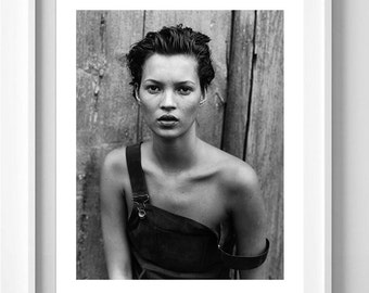 Poster poster gloss of patrick Demarchelier with Kate Moss, feminine and original poster for the House.