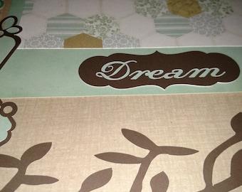 DREAM 12x12 scrapbook page