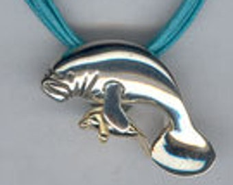 Mama manatee and baby pendant