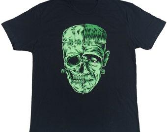Frankenstein Universal Monster Mens Black Tee S-4XL