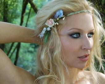 CYRA-flower wreath, Elf Crown, wedding, Bridal wreath, Bridal jewelry, summer, boho,.