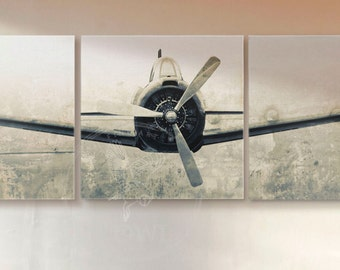 Airplane Triptych Front View