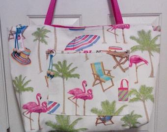 Beach Bag with bonus matching pouch.
