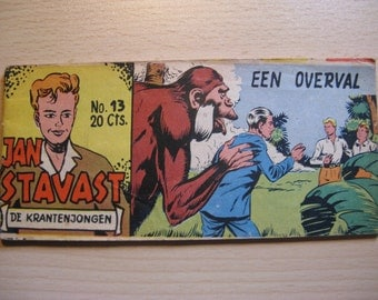 An old Lilliput comic book: Jan Saksena, the newspaper boy ... a robbery ... 1954