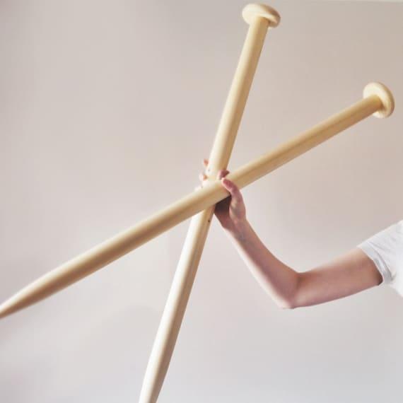Knitting Needles Uk Flights : Giant knitting needles mm chunky