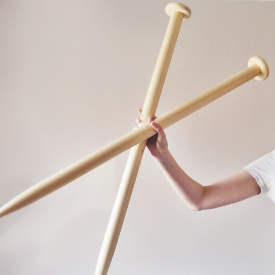 Giant Knitting Needles Uk : Giant knitting needles mm chunky