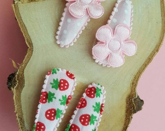 Baby Strawberry Hair Clips