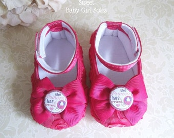The Princess Has Arrived - Baby Girl Princess Shoes - The Princess Has Arrived Outfit