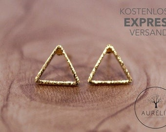 """18 K gold plated earrings """"triangle"""""""