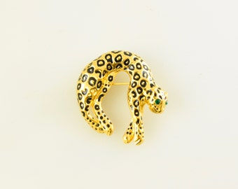 GAY BOYER Vintage Leopard Brooch