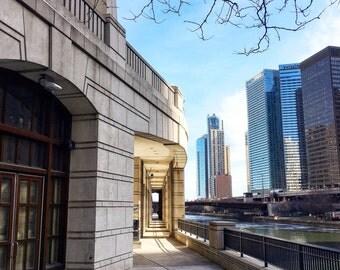 Chicago Riverwalk, Chicago River, Chicago Photography, Chicago Wall Art, City Photography, Chicago Prints