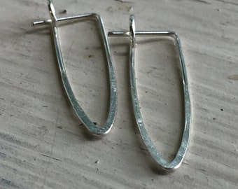 Sterling Silver Minimalist Earrings - Silver - Minimalist Earrings - Triangles