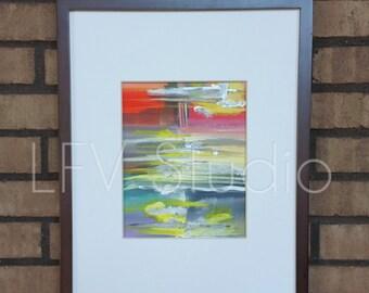 Original Abstract Watercolor & Acrylic Painting Multi-color Series #010 - LFV Studio