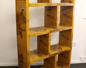 Antique ART DECO STYLE Furniture - Bookcase In Walnut - Library Shelf Unit - C39