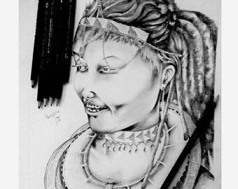 Maasai Pencil illustration