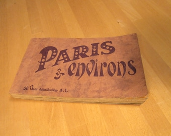 Vintage French postcards book