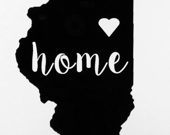 Home State Vinyl Decal