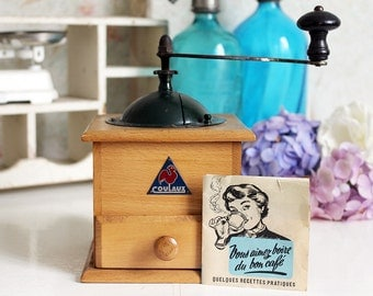 Vintage French Coulaux Coffee Grinder