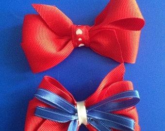 2 handmade pinwheel bows!