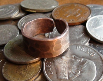Hammered Copper Ring size 11-12