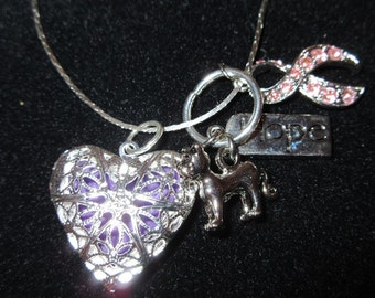 Cancer & Kitties Aromatherapy Diffuser Necklace