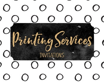 Printing Services - 10 Invitations