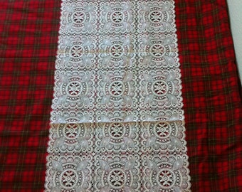 Table Runner & 6 Placemats Antique Needle Lace Wedding Table