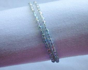 Simply Clear Double Coil Bracelet