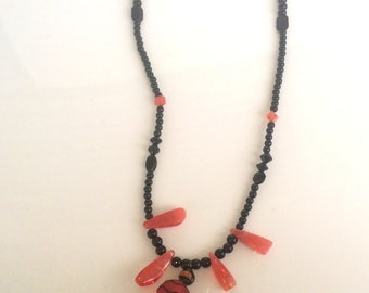 Hand crafted glass bead necklace
