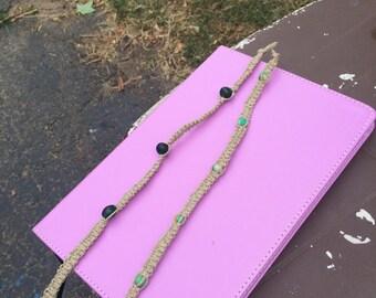 Set of 2 Hemp bracelets
