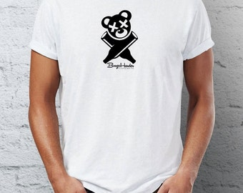 BoozeHarder - Logo t-shirt (Black on White)