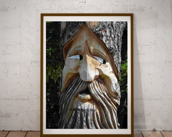 talking tree, living tree, tree man, children story, male tree, wood carving, wood carving, Austria, Austria, US, America woodcarving