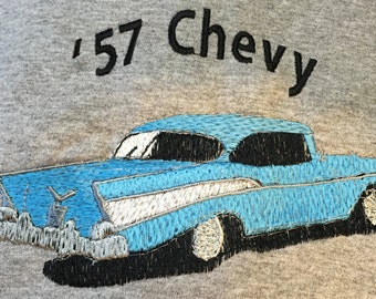Embroidered 57 Chevy T-Shirt