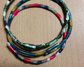 bangles from metal  covering with unique coulring method discovered by me