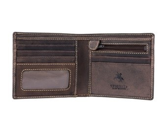 Visconti slim wallet - Shield - Oiled BROWN Leather