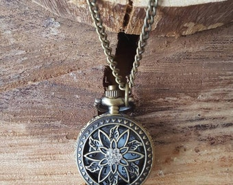 Statement Necklace, locket, watch, Vintage inspired, holiday gift *FREE SHIPPING*