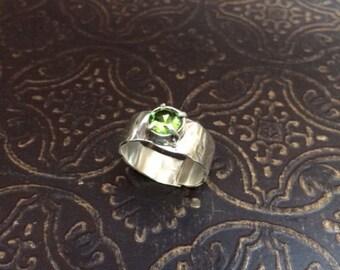 Silver and Peridot ring.
