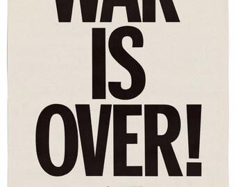 Yoko Ono and John Lennon War is Over poster 1969