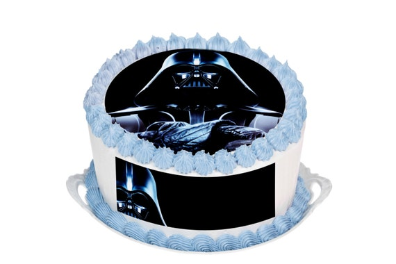 Star Wars Darth Vader Edible 9.5 Inch Round Cake Topper for 10