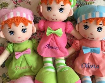 Personalised Rag doll - personalised baby gift