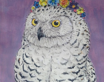 Hippy Snowy Owl Original