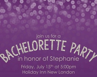 Sequin Bachelorette Invitation