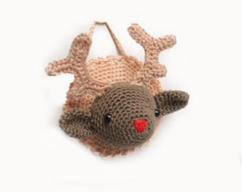 Crochet Package Randy Reindeer