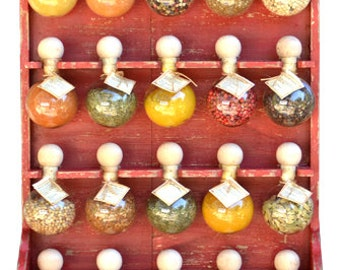 20 bubbles red patina 'Bubbles of spices' spice racks