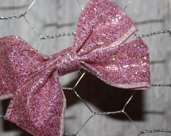 Bubblegum pink sparkle hair bow