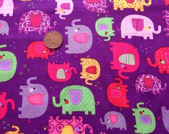 100% cotton fabric elephant print