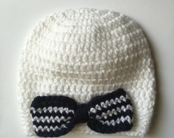 Nautical Bow Baby Hat