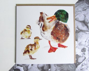 Mallard and Duckling Card