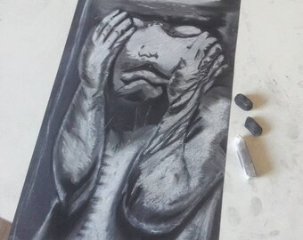 Fine Art Print of a Pastell Drawing